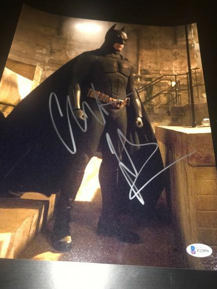 CHRISTIAN BALE SIGNED AUTOGRAPH 11x14 PHOTO DARK KNIGHT BATMAN BECKETT BAS X5