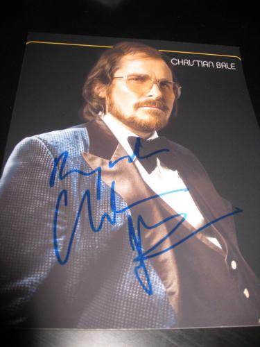CHRISTIAN BALE SIGNED AUTOGRAPH 8x10 PHOTO AMERICAN HUSTLE PROMO IN PERSON COA M