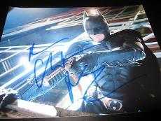 CHRISTIAN BALE SIGNED AUTOGRAPH 8x10 PHOTO BATMAN DARK KNIGHT RISES PROMO COA A