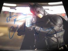 CHRISTIAN BALE SIGNED AUTOGRAPH 8x10 PHOTO BATMAN DARK KNIGHT RISES PROMO COA V