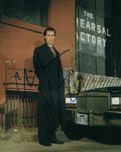 Christian Bale Signed Autograph 8x10 Photo - Christopher Nolan 's Batman, Rare!