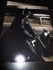 CHRISTIAN BALE SIGNED AUTOGRAPH 8x10 PHOTO DARK KNIGHT BATMAN IN PERSON COA NY D