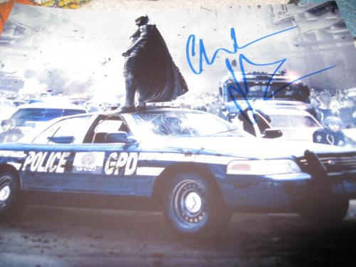 CHRISTIAN BALE SIGNED AUTOGRAPH 8x10 PHOTO DARK KNIGHT RISES PROMO IN PERSON COA