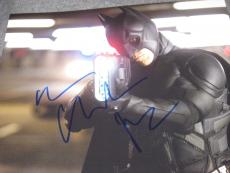 CHRISTIAN BALE SIGNED AUTOGRAPH 8x10 PHOTO DARK KNIGHT RISES PROMO IN PERSON X2