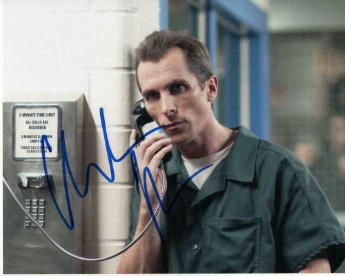 Christian Bale Signed Autograph 8x10 Photo - The Fighter, Dark Knight Batman