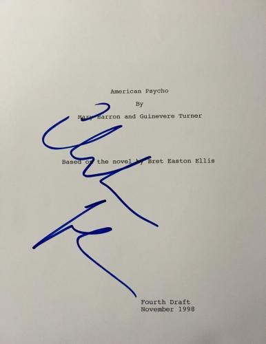 "Christian Bale Signed Autograph ""american Psycho"" Rare Full Movie Script Coa"