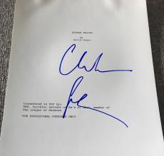 """Christian Bale Signed Autograph """"batman Begins"""" Complete Movie Script Coa"""