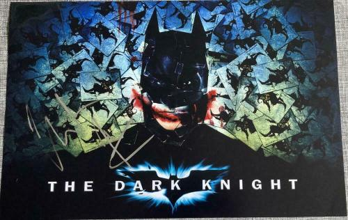 "CHRISTIAN BALE SIGNED AUTOGRAPH ""DARK KNIGHT"" BATMAN ART POSTER 12x18 PHOTO COA"