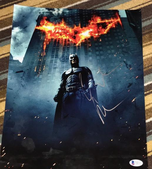 CHRISTIAN BALE SIGNED AUTOGRAPH DARK KNIGHT BATMAN POSTER 11x14 PHOTO BECKETT
