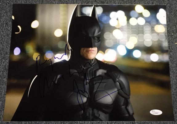 Christian Bale Signed Autograph Dark Knight Intense Pose 11x14 Photo Jsa L74067