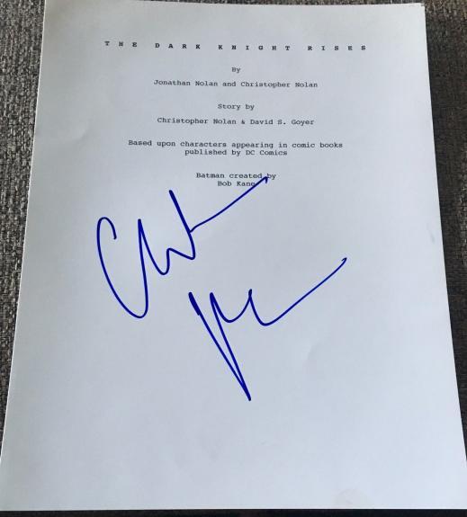 "Christian Bale Signed Autograph ""dark Knight Rises"" Complete Movie Script Coa"
