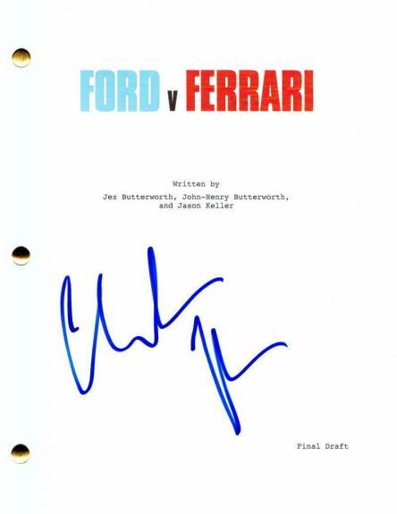 "Christian Bale Signed Autograph ""ford V Ferrari"" Full Movie Script - Batman"