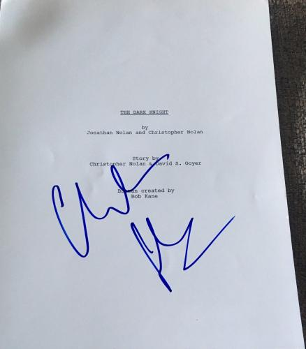 "Christian Bale Signed Autograph ""the Dark Knight"" Complete Movie Script Coa"
