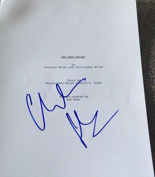 "Christian Bale Signed Autograph ""the Dark Knight"" Complete Movie Script Coa"