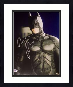 CHRISTIAN BALE SIGNED AUTOGRAPH THE DARK KNIGHT POSE 11x14 PHOTO PSA/DNA Y63431