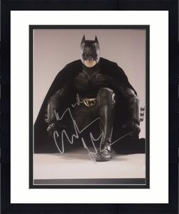 CHRISTIAN BALE SIGNED AUTOGRAPH THE DARK KNIGHT PROMO 11x14 PHOTO PSA/DNA Y63432