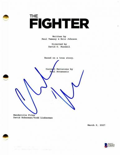 Christian Bale Signed Autograph - The Fighter Movie Script - Batman, Dark Knight