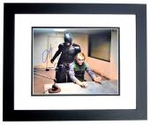Christian Bale Signed - Autographed Batman - The Dark Knight 11x14 inch Photo BLACK CUSTOM FRAME - Guaranteed to pass PSA or JSA - Bruce Wayne and The Joker Heath Ledger - Pictured