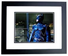 Christian Bale Signed - Autographed Batman - The Dark Knight 11x14 Photo BLACK CUSTOM FRAME