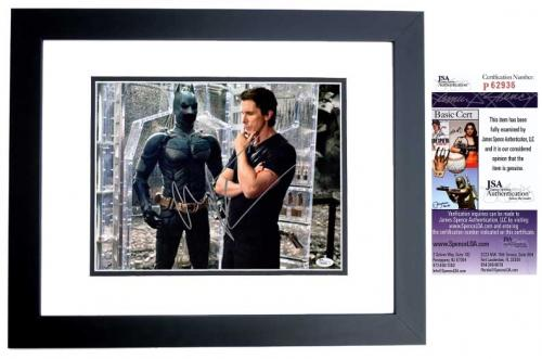 Christian Bale Signed - Autographed Batman - The Dark Knight 11x14 inch Photo BLACK CUSTOM FRAME - JSA Certificate of Authenticity