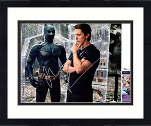 Christian Bale Signed - Autographed Batman - The Dark Knight 11x14 inch Photo - Bruce Wayne - JSA Certificate of Authenticity