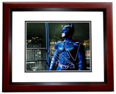 Christian Bale Signed - Autographed Batman - The Dark Knight 11x14 Photo MAHOGANY CUSTOM FRAME