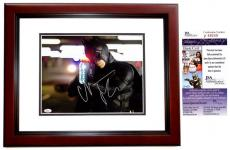 Christian Bale Signed - Autographed Batman - The Dark Knight 11x14 inch Photo MAHOGANY CUSTOM FRAME  - JSA Certificate of Authenticity
