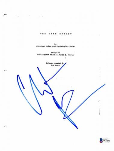Christian Bale Signed Autographed The Dark Knight 'batman' Movie Script Bas Coa
