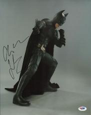 Christian Bale Signed Batman 11x14 Photo PSA/DNA COA Dark Knight Rises Autograph