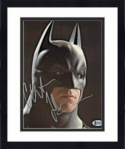 Christian Bale Signed Batman 8 x 10 Photo Close Headshot Beckett BAS COA