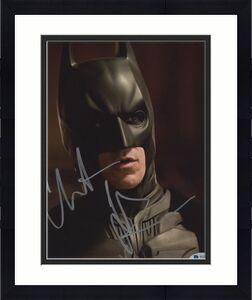 Christian Bale Signed Batman 8x10 Photo Close Headshot Beckett BAS COA