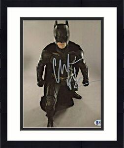 Christian Bale Signed Batman 8x10 Photo Fists Clenched Beckett BAS COA