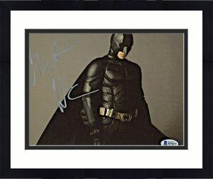 Christian Bale Signed Batman 8x10 Photo Looking Down Away Beckett BAS COA