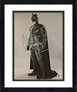 Christian Bale Signed Batman 8x10 Photo Standing Pose Beckett BAS COA