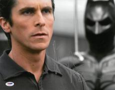 Christian Bale Signed Batman Authentic Autographed 11x14 Photo PSA/DNA #AC45477