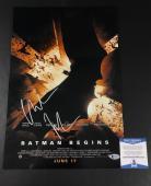 Christian Bale Signed Batman Begins 12x18 Photo Authentic Autograph Bas Beckett