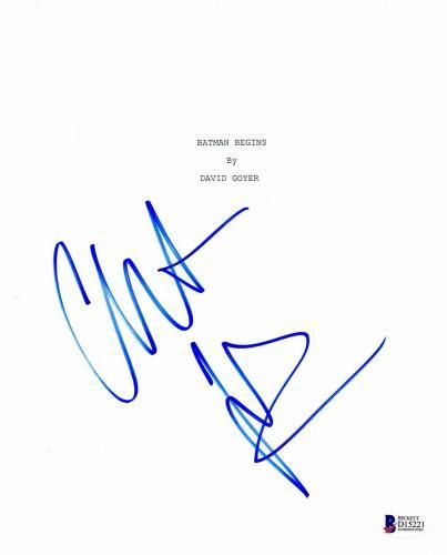 Christian Bale Signed Batman Begins Autographed Full Script Screenplay Beckett