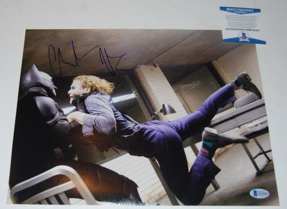 CHRISTIAN BALE signed (BATMAN BEGINS DARK KNIGHT) 11X14 photo *PROOF* Beckett #2
