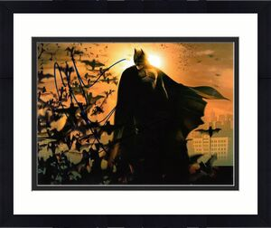 CHRISTIAN BALE signed (BATMAN BEGINS DARK KNIGHT) 8X10 photo *PROOF* W/COA #1