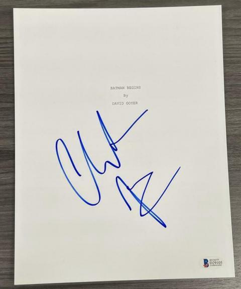 Christian Bale Signed Batman Begins Full Script Authentic Autograph Beckett