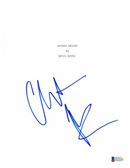 Christian Bale Signed 'batman Begins' Full Script Screenplay Authentic Auto Bas