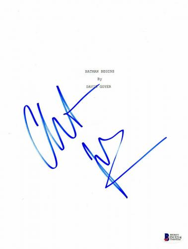 Christian Bale Signed 'batman Begins' Full Script Screenplay Beckett Bas 22