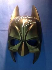 Christian Bale signed Batman Ceramic Mask JSA LOA# X47122