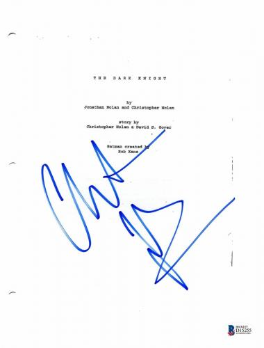 Christian Bale Signed 'batman Dark Knight' Full Script Screenplay Authentic Bas