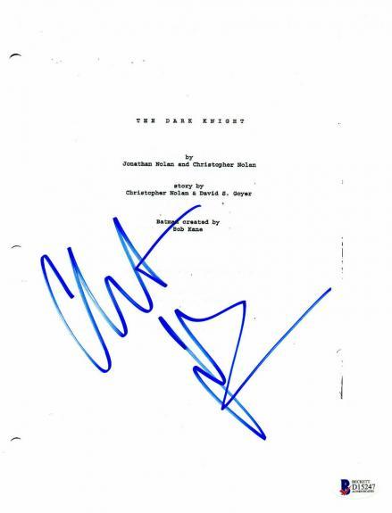 Christian Bale Signed 'batman Dark Knight' Full Script Screenplay Beckett Bas 2
