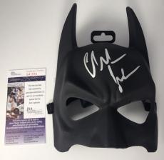 CHRISTIAN BALE signed BATMAN MASK The Dark Knight Trilogy Cowl Prop JSA