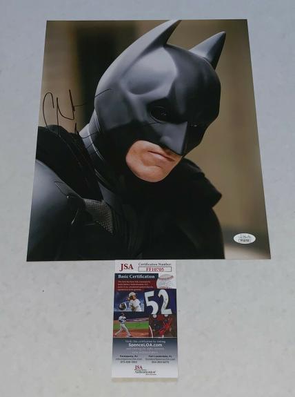 Christian Bale signed Batman The Dark Knight 11x14 photo autographed 3 JSA