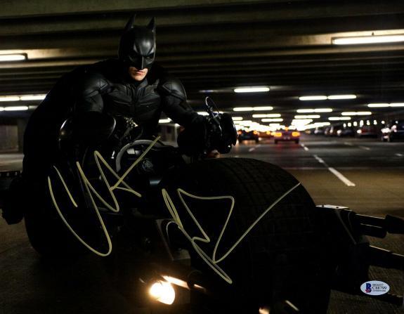 "CHRISTIAN BALE Signed BATMAN ""The Dark Knight"" 11x14 Photo BECKETT BAS #C88799"