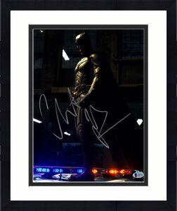 """CHRISTIAN BALE Signed BATMAN """"The Dark Knight"""" 11x14 Photo BECKETT BAS #D48744"""