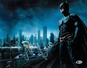 Christian Bale signed Batman The Dark Knight 11X14 Photo (Horizontal Silver Sig)- Beckett Hologram #C44227